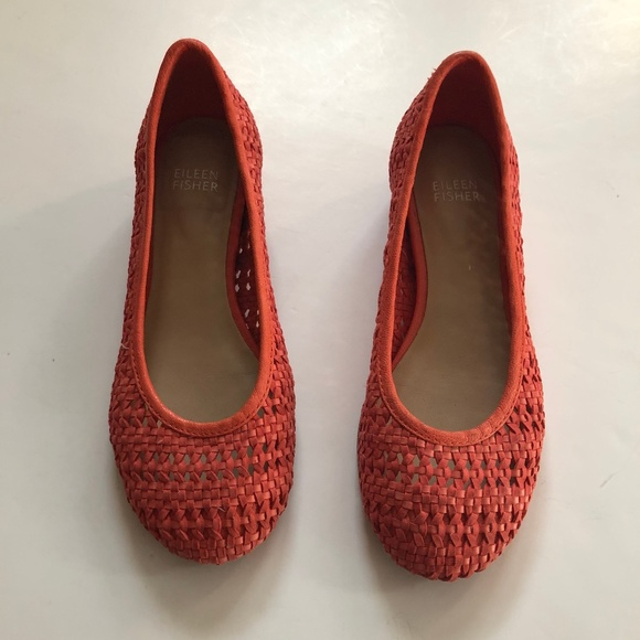 Eileen Fisher | Woven Leather Flats Size 7